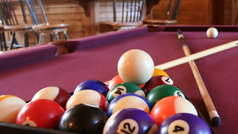 pool table in the lounge at York House Apartments in Philadelphia