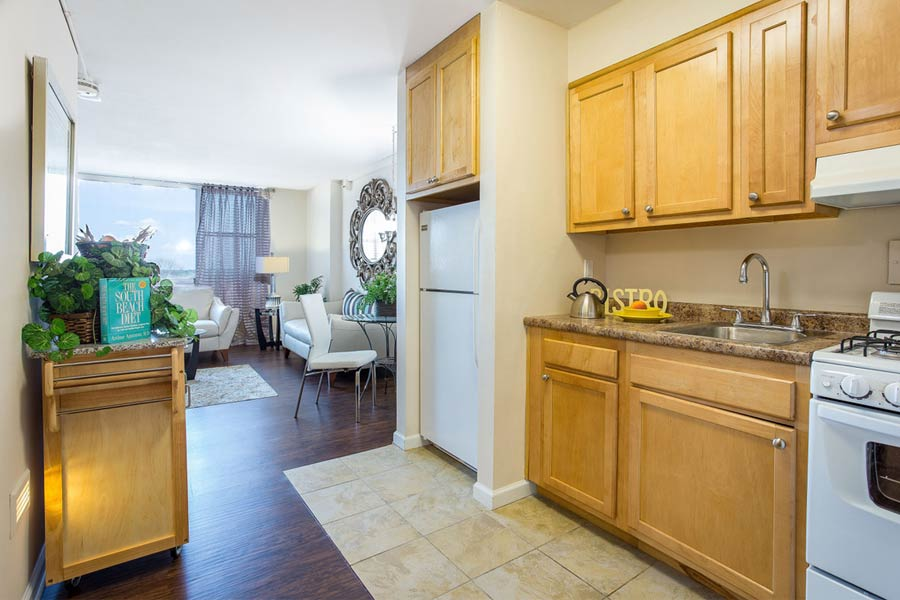 The York House apartment interior kitchen